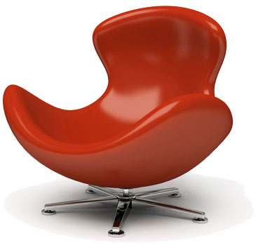 Modern retro red leather chair...